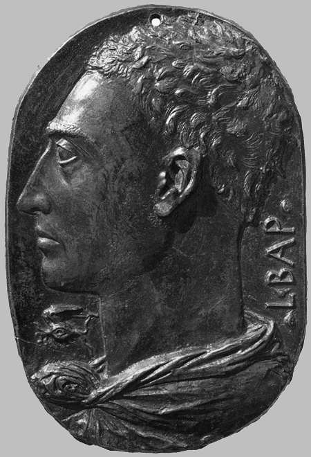 "Leon Battista Alberti (1404, Genova - 1472, Roma), ""Autoritratto"" / ""Self-Portrait"", ca. 1435, Bronzo / Bronze, altezza / height 20 cm, National Gallery of Art, Washington"