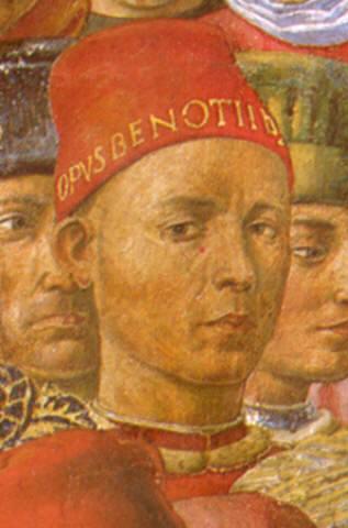 """Benozzo Gozzoli, Autoritratto / Self Portrait in """"Corteo dei Magi - Corteo del giovane Re"""""""