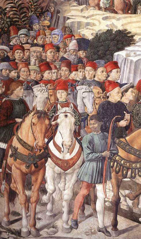 """Benozzo Gozzoli, Particolare di / Detail of """"Corteo dei Magi - Corteo del giovane Re"""""""