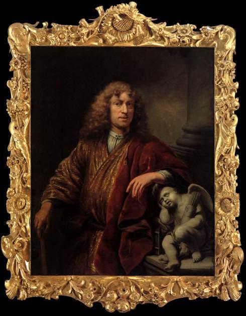 "Ferdinand Bol (1616, Dordrecht - 1680, Amsterdam), ""Autoritratto"" / ""Self-Portrait"", ca. 1669, Olio su tela / Oil on canvas, 128 x 104 cm, Rijksmuseum, Amsterdam"