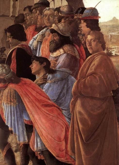 """Sandro Botticelli, Autoritratto / Self Portrait in """"Adorazione dei Magi"""" / """"Adoration of the Magi"""""""