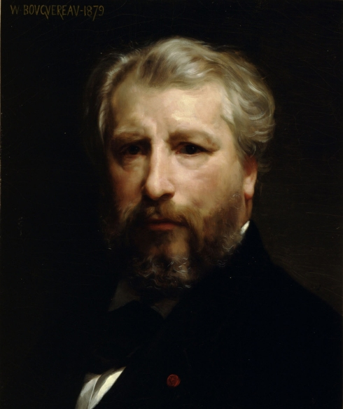 "Adolphe William Bouguereau (1825, La Rochelle - 1905, La Rochelle), ""Autoritratto dell'artista"" / ""Portrait of the Artist"", 1879, Olio su tela / Oil on canvas, 46.5 x 38.5 cm, Montreal Museum of Arts, Montreal"