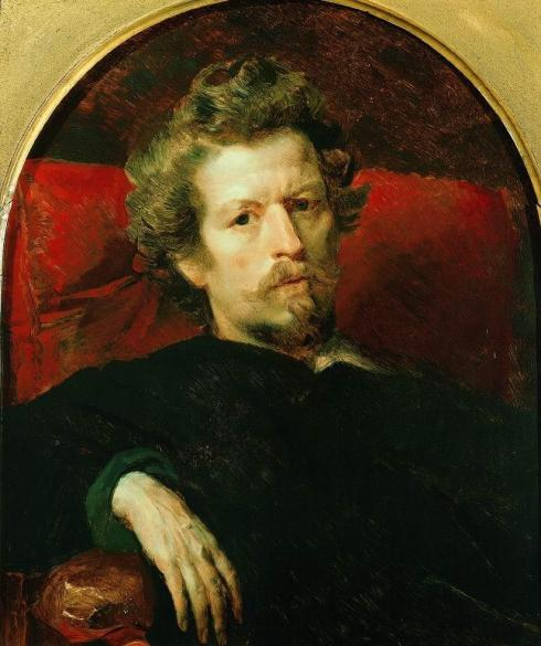 "Karl Pavlovich Brjullow (1799, St Petersburg - 1852, Roma), ""Autoritratto"" / ""Self Portrait"", 1848, Olio su tela / Oil on canvas, 64.1 x54 cm, State Russian Museum, Moscow"