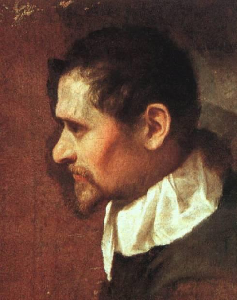 """Annibale Carracci (1560, Bologna - 1609, Roma), """"Autoritratto di profilo"""" / """"Self-Portrait in Profile"""", anni 1590 / 1590s, Olio su tela / Oil on canvas, Galleria degli Uffizi, Firenze"""