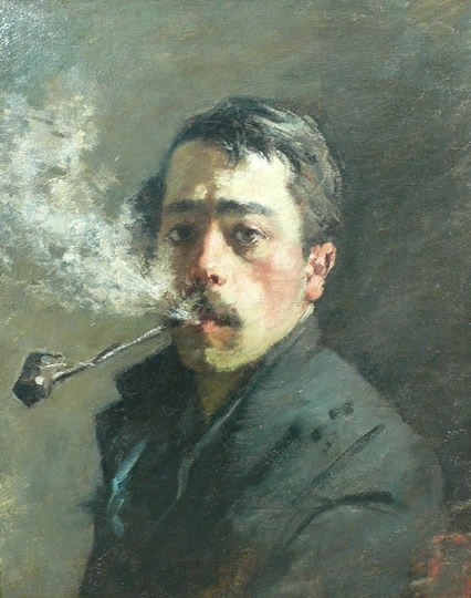 "Filippo Castelli (1859, Monza - 1932, Monza), ""Autoritratto"" / ""Self-Portrait"", anni 1890 / 1890s, Olio su tela / Oil on canvas, Musei Civici di Monza, Monza"