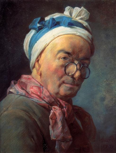 """Jean-Baptiste-Simeon Chardin (1699, Paris - 1779, Paris), """"Autoritratto"""" / """"Self-Portrait"""", 1771, Pastello su carta / Pastel on Paper, 46 x 38 cm, Musée du Louvre, Paris"""
