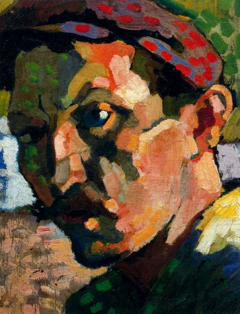 "André Louis Derain (1880, Chatou - 1954, Garches), ""Autoritratto con cappello"" / ""Self Portrait with an hat"", 1905-1906, Olio su tela / Oil on canvas, 33 x 25.5 cm, Collezione privata / Private Collection"