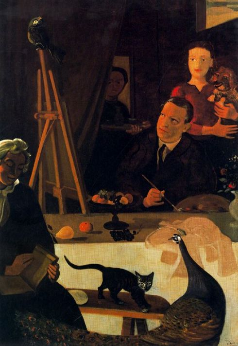 "André-Louis Derain (1880, Chatou - 1954, Garches), ""L'Artista nel suo Studio"" / ""The Artist in his Studio"", 1920-1921, Olio su tela / Oil on canvas, 116 x 89 cm, Collezione privata / Private Collection"