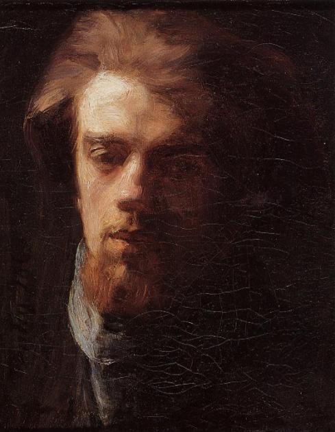 "Ignace Henri Fantin-Latour (1836, Grenoble -1904, Buré), ""Autoritratto"" / ""Self Portrait"", 1860, Olio su tela / Oil on canvas, Collezione privata / Private Collection"