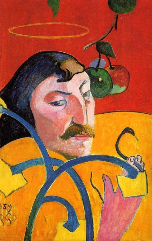 "Paul Gauguin (1848, Paris - 1903, Hiva Oa), ""Autoritratto Caricatura"" / ""Caricature, Self Portrait"", 1889, Olio su tavola / Oil on wood, 79.2 x 51.3 cm, National Gallery of Art, Washington"