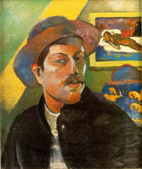 "Paul Gauguin (1848, Paris - 1903, Hiva Oa), ""Ritratto dell'artista"" / ""Portrait de l'artiste"", ca. 1893-94, Olio su tela / Oil on canvas, 46 x 38 cm, Musee d'Orsay, Paris"