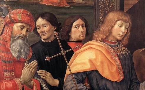 """Domenico Ghirlandaio, Autoritratto / Self Portrait in """"Adorazione dei Magi"""" / """"Adoration of the Magi"""""""