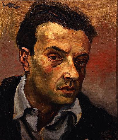 """Renato Guttuso (1912, Bagheria, Palermo - 1987, Roma), """"Autoritratto"""" / """"Self-Portrait"""", ca. 1940, Olio su tela / Oil on canvas, 50 x 37 cm, Collezione privata, Private Collection"""