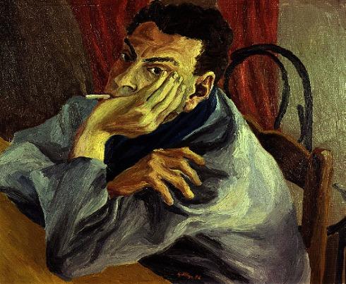 """Renato Guttuso (1912, Bagheria, Palermo - 1987, Roma), """"Autoritratto"""" / """"Self-Portrait"""", 1936, Olio su tela / Oil on canvas, 48 x 60 cm, Galleria Civica d'Arte Moderna """"Empedocle Restivo"""", Palermo"""