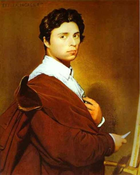 "Jean-Auguste-Dominique Ingres (1780, Montauban - 1867, Paris), ""Autoritratto all'età di 24 anni"" / ""Self-Portrait at age 24"", 1804, Olio su tela / Oil on canvas, Musée Condé, Chantilly"