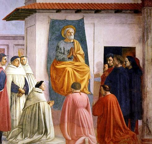 "Masaccio: Particolare / Detail, ""La Resurrezione del figlio di Teofilo e San Pietro in trono"" / ""Raising of the Son of Theophilus and St Peter Enthroned"","