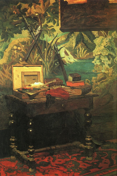 "Claude Monet (1840, Paris -1926, Givern), ""Un angolo nello Studio"" / ""A Corner of the Studio"", 1861, Olio su tela / Oil on canvas, Musée d'Orsay, Paris"