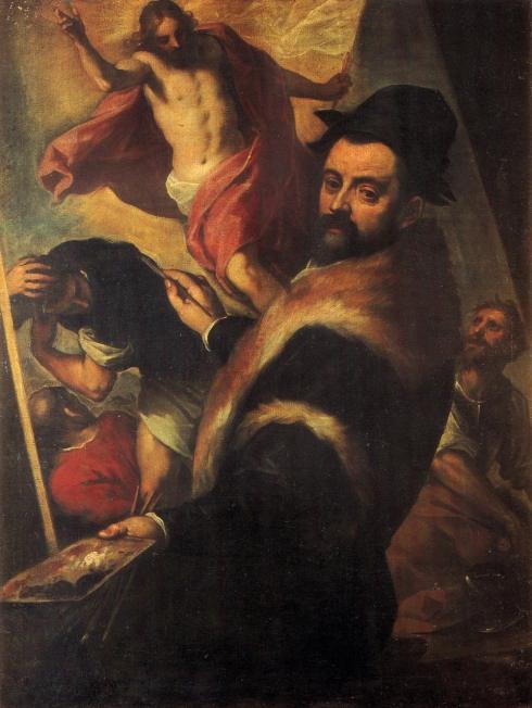 """Jacopo di Antonio Negretti (Palma il Giovane, 1544, Venezia - 1626, Venezia), """"Autoritratto"""" / """"Self-Portrait"""", XVI-XVII sec. / Sixteenth-Seventeenth Cent., Olio su tela / Oil on canvas, 126 x 96 cm, Pinacoteca di Brera, Milano"""
