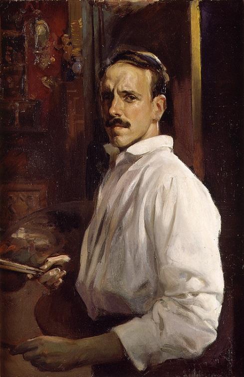 "José Benlliure Ortiz (1884-1916), ""Autoritratto con camicia bianca"" / ""Self-portrait with white shirt"", 1914, Olio su tela / Oil on canvas, 100.6 x 67.4 cm, Museo de Bellas Artes de Valencia en su Historia, Valencia"