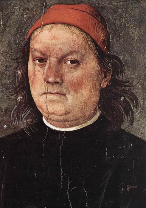 """Pietro Perugino (Pietro di Cristoforo Vannucci, 1445, Citta della Pieve - 1523, Perugia), """"Autoritratto"""" / """"Self-Portrait"""",ca.1500, Affresco / Fresco, 40 x 30.5 cm, Collegio del Cambio, Perugia"""