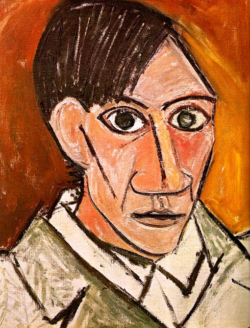 "Pablo Picasso (1881, Málaga - 1973, Mougins), ""Autoritratto"" / ""Self Portrait"", 1907, Olio su tela / Oil on canvas, 80,5 x 60 cm, National Gallery, Prague"