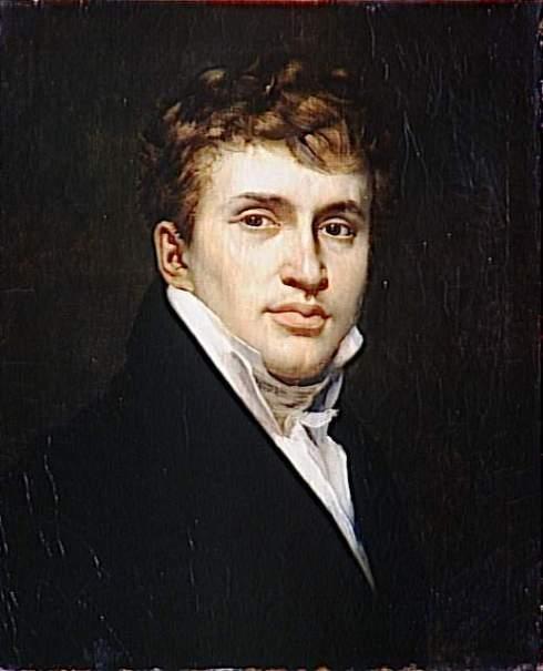"""Alexandre-Denis Abel de Pujol (1785, Valenciennes - 1861, Paris), """"Autoritratto"""" / """"Self-Portrait"""", 1812, Olio su tela / Oil on canvas, 55 x 45 cm, Musée des Beaux-Arts, Valenciennes"""