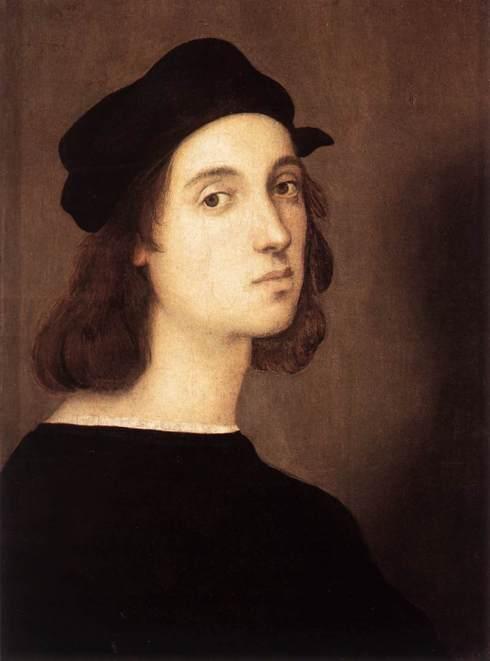 """Raffaello (Raffaello Sanzio, 1483, Urbino - 1520, Roma), """"Autoritratto"""" / """"Self-Portrait"""", 1506, Olio su tavola / Oil on wood, 45 x 33 cm, Galleria degli Uffizi, Firenze"""