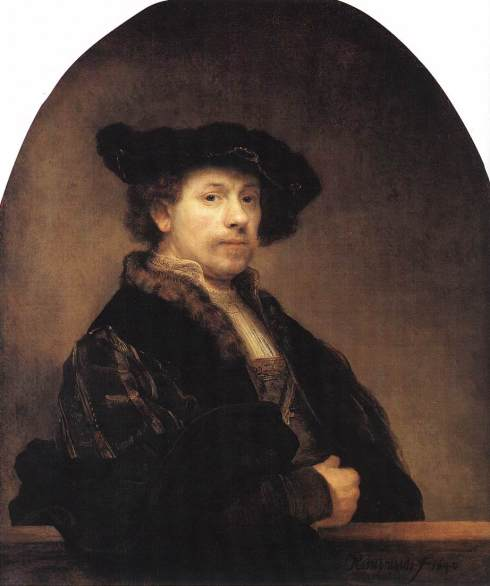 "Rembrandt Harmenszoon van Rijn (1606, Leiden - 1669, Amsterdam), ""Autoritratto a 34 anni"" / ""Self Portrait at the Age of 34"", Olio su tela / Oil on canvas, 102 x 80 cm, National Gallery, London"