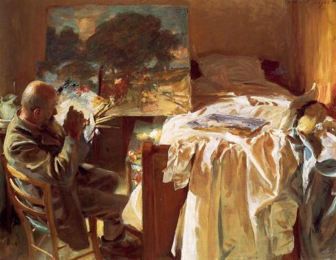 "John Singer Sargent (1856, Firenze -1925, London), ""Un Artista nel suo studio"" / ""An Artist in His Studio"",1904, Olio su tela / Oil on canvas, 54.61 x 71.76 cm, Museum of Fine Arts, Boston, Mass."