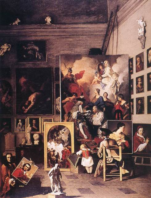"Pierre Subleyras (1699, Saint-Gilles-du-Gard 1749, Roma), ""Lo Studio del Pittore"" / ""The Studio of the Painter"", 1747-49, Olio su tela / Oil on canvas, Akademie der Bildenden Künste, Vienna"