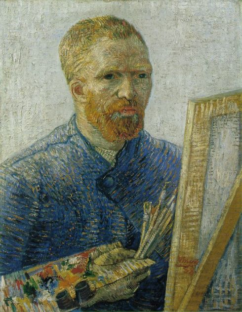 "Vincent Van Gogh (1853, Zundert - 1890, Auvers-sur-Oise), ""Autoritratto come Artista"" / ""Self-Portrait as an Artist"", 1887-88, Olio su tela / Oil on canvas, 65 x 50.5 cm, Van Gogh Museum, Amsterdam"