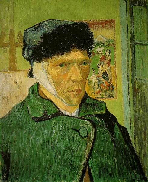 "Vincent Van Gogh (1853, Zundert - 1890, Auvers-sur-Oise), ""Autoritratto con l'orecchio bendato"" / ""Self-Portrait with Bandaged Ear"", 1889, Olio su tela / Oil on canvas, 60 x 49 cm, Courtauld Institute Galleries, London"