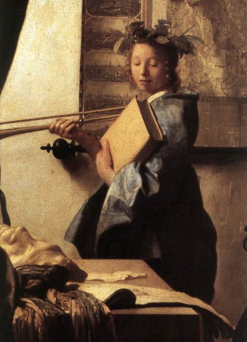 "Johannes Vermeer, ""Lo studio dell'Artista (L'Arte della Pittura)"" / ""The Artist's Studio (The Art of Painting)"", particolare / detail"