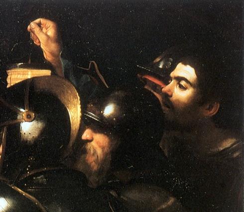 """Caravaggio, Autoritratto / Self Portrait in """"La cattura di Cristo nell'orto"""" / """"Taking of Christ in the garden"""""""