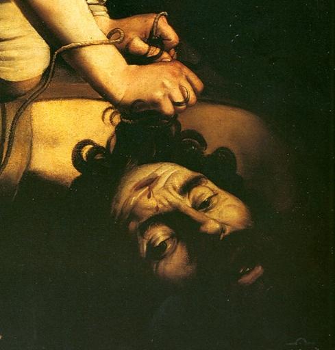 """Caravaggio, Autoritratto / Self Portrait, in """"Davide"""" / """"David"""""""