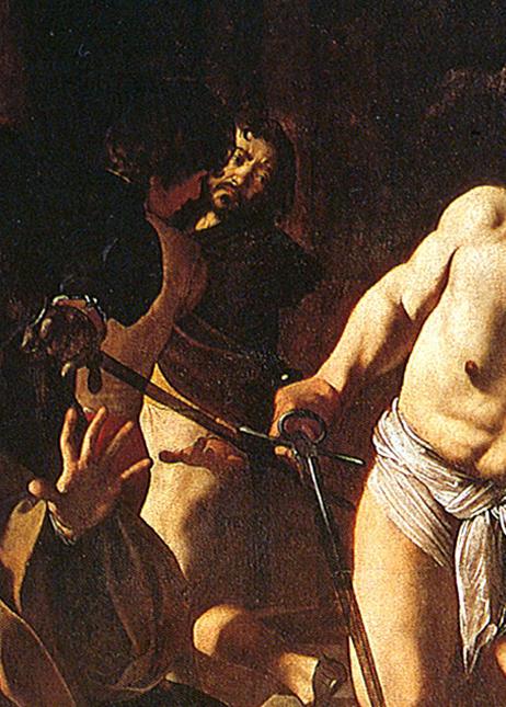 """Caravaggio, Autoritratto / Self Portrait, in """"Il Martirio di San Matteo"""" / """"The Martyrdom of St Matthew"""""""