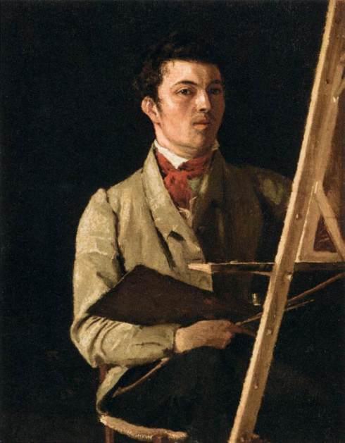 """Jean-Baptiste Camille Corot (1796, Paris - 1875, Paris), """"Autoritratto"""" / """"Self-Portrait"""", ca. 1825, Carta montato su tela / Paper mounted on canvas, 32 x 24 cm, Musée du Louvre, Paris"""