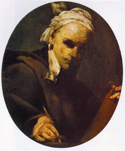 """Giuseppe Maria Crespi Lo Spagnolo, (1665, Bologna - 1747, Bologna), """"Autoritratto"""" / """"Self-Portrait"""", 1700, Olio su tela / Oil on canvas, 60.5 x 50 cm, Hermitage, St Petersburg"""
