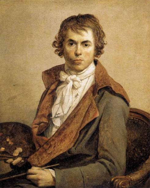 "Jacques-Louis David (1748, Paris - 1825, Bruxelles), ""Ritratto dell'Artista"" / ""Portrait of the Artist"", 1794, Olio su tela / Oil on canvas, 81 x 64 cm, Musée du Louvre, Paris"