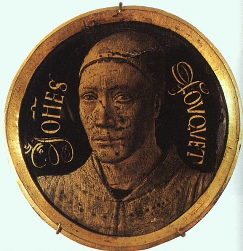 "Jean Fouquet (ca. 1420, Tours, - ca. 1480, Tours), ""Autoritratto"" / ""Self-portrait"", 1450, Rame smaltato / Enameled copper, Musée du Louvre, Paris"