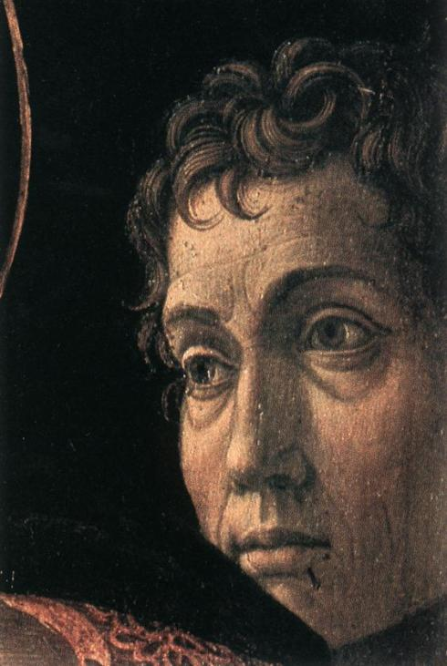 "Andrea Mantegna, Autoritratto / Self-Portrait, in ""Presentazione al Tempio"" / ""Presentation at the Temple"""