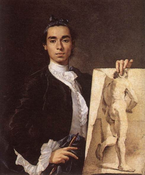 "Luis Meléndez (b. 1716, Napoli, d. 1780, Madrid), ""Ritratto dell'Artista"" / ""Portrait of the Artist"", 1746, Olio su tela / Oil on canvas, 100 x 82 cm, Musée du Louvre, Paris"