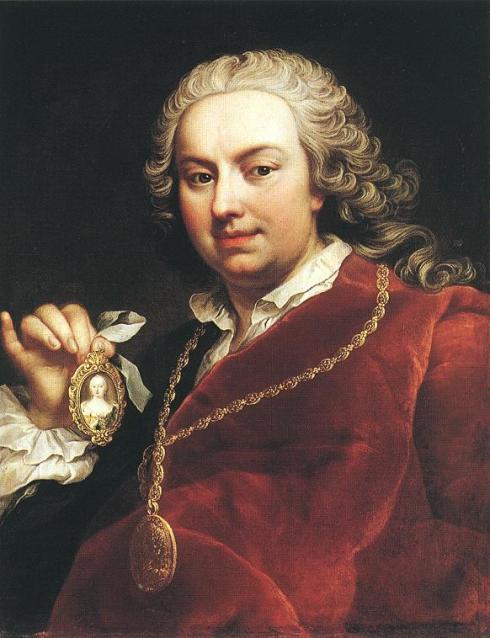 "Martin van Meytens (1695, Stockholm - 1770, Vienna), ""Autoritratto"" / ""Self-portrait"", anni 1740 / 1740s, Olio su tela / Oil on canvas, 65 x 50,2 cm, Museum of Fine Arts, Budapest"