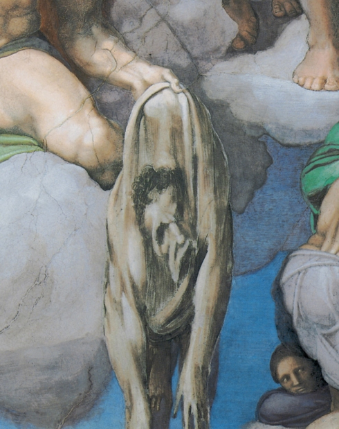 "Michelangelo, Autoritratto / Self Portrait, dal / from ""Il Giudizio Universale"" / ""The Last Judgement"""