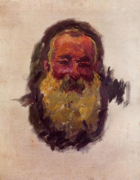 "Claude Monet (1840, Paris -1926, Givern), ""Autoritratto"" / ""Self Portrait"", 1917, Olio su tela / Oil on canvas, 70 x 55 cm, Musée d'Orsay, Paris"