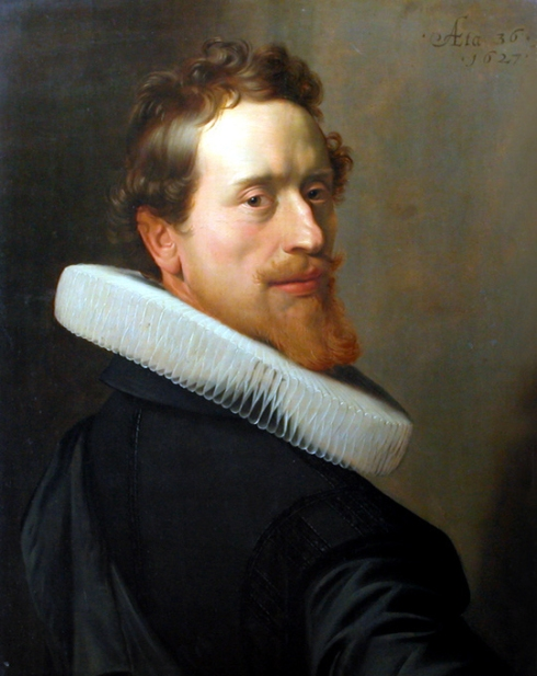 "Nicolaes Eliasz. Pickenoy (1588, Amsterdam / 1654/56, Amsterdam), ""Autoritratto all'età di 36 anni"" / ""Self-portrait at 36 years old"", 1627, Olio su tavola / Oil on wood, 46 cm x 60 cm, Musée du Louvre, Paris"