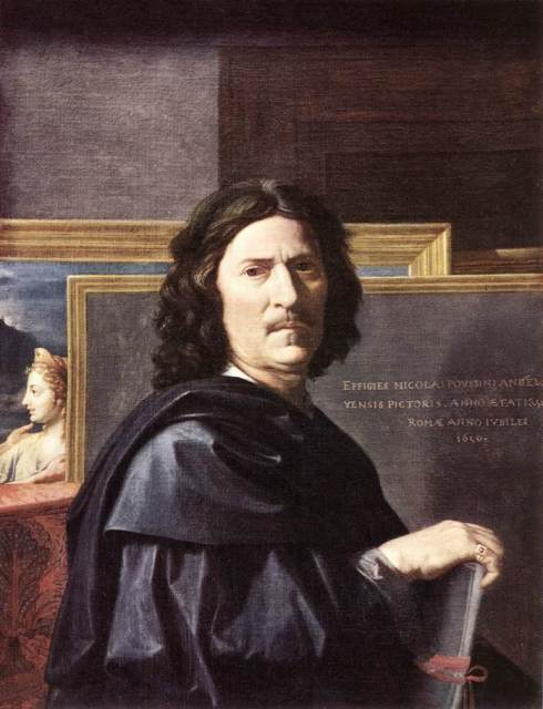 "Nicolas Poussin (1594, Les Andelys - 1665, Roma), ""Autoritratto"" / ""Self-Portrait"", 1650, Olio su tela / Oil on canvas, 78 x 94 cm, Musée du Louvre, Paris"