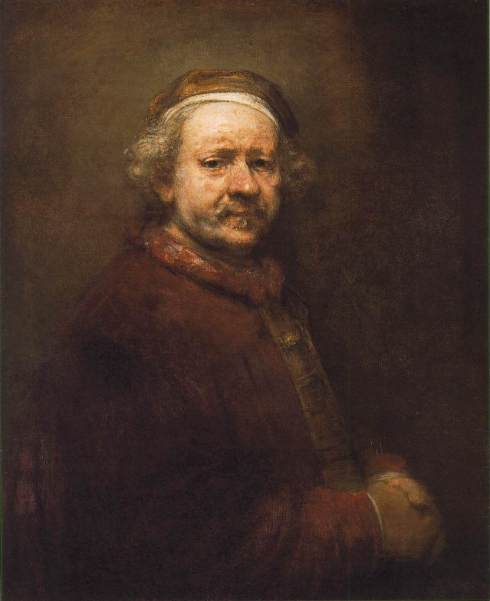 "Rembrandt Harmenszoon van Rijn (1606, Leiden - 1669, Amsterdam), ""Autoritratto"" / ""Self Portrait"", 1669, Olio su tela / Oil on canvas, 86 x 70.5 cm, National Gallery, London"
