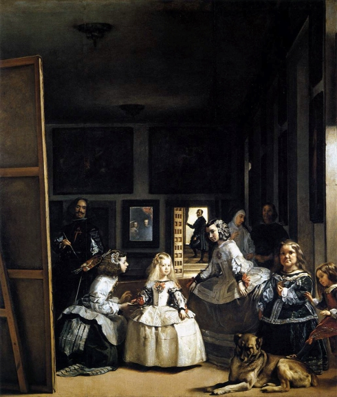 "Diego Rodriguez de Silva y Velázquez (1599, Sevilla - 1660, Madrid), ""Las Meninas, o La Famiglia di Filippo IV"" / ""Las Meninas or The Family of Philip IV"", 1656-57, Olio su tela / Oil on canvas, 318 x 276 cm, Museo del Prado, Madrid"