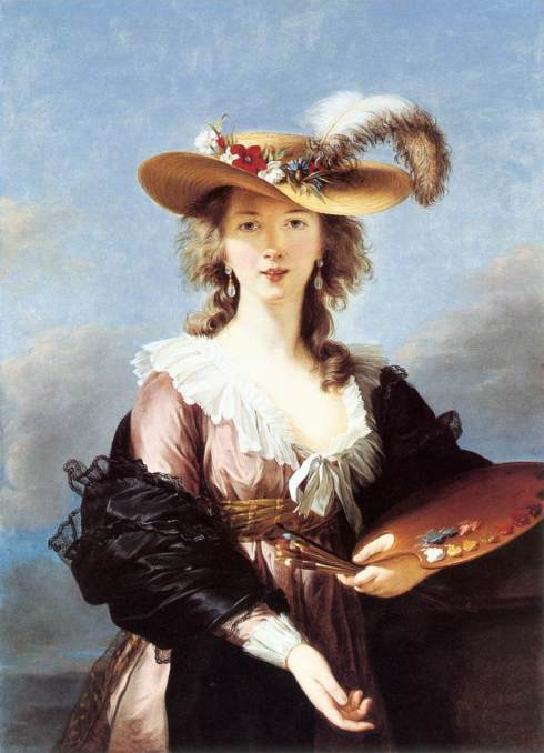 "Marie-Louise-Élisabeth Vigée-Lebrun (1755, Paris - 1842, Paris), ""Autoritratto con un cappello di paglia"" / ""Self-Portrait in a Straw Hat"", dopo il 1782 / after 1782, Olio su tela / Oil on canvas, 98 x 70 cm, National Gallery, London"